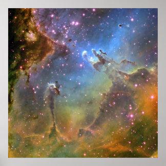 Imagen del Ancho-Campo de la nebulosa de Eagle Posters