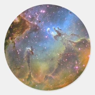 Imagen del Ancho-Campo de la nebulosa de Eagle Pegatina Redonda