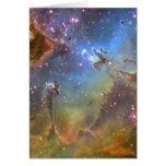 Imagen del Ancho-Campo de la nebulosa de Eagle Felicitacion