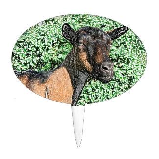 imagen del animal de la cabra de la gama del decoración de tarta