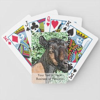 imagen del animal de la cabra de la gama del cartas de juego