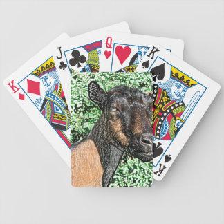 imagen del animal de la cabra de la gama del baraja cartas de poker