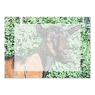"""imagen del animal de la cabra de la gama del invitación 5"""" x 7"""""""