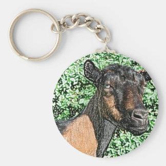 imagen del animal de la cabra de la gama del llaveros personalizados
