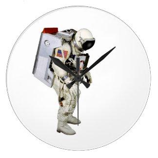 Imagen del astronauta para el Redondo-Pared-Reloj Reloj Redondo Grande