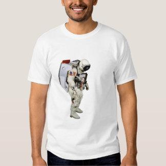 Imagen del astronauta para Hombre-T-camisa-Blanco Playera