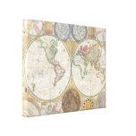 Imagen del atlas del mapa del mundo lienzo envuelto para galerías