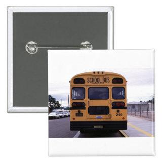 Imagen del autobús escolar pin cuadrado