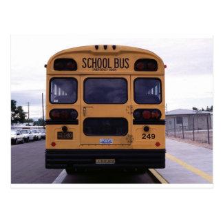 Imagen del autobús escolar tarjetas postales