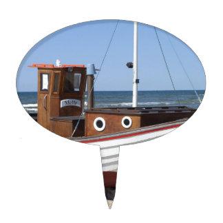 Imagen del barco de pesca figura de tarta