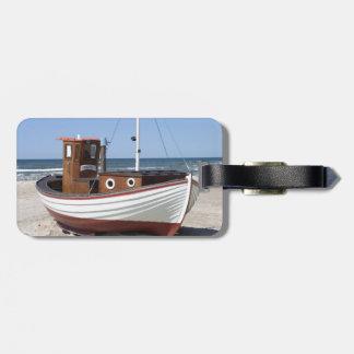 Imagen del barco de pesca etiquetas para maletas