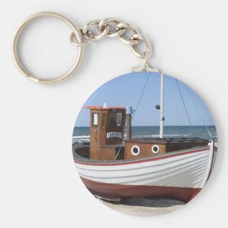 Imagen del barco de pesca llavero redondo tipo pin