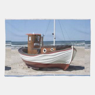 Imagen del barco de pesca toalla de mano