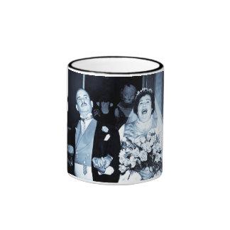 Imagen del boda del vintage - par feliz (Cyanotype Taza De Café