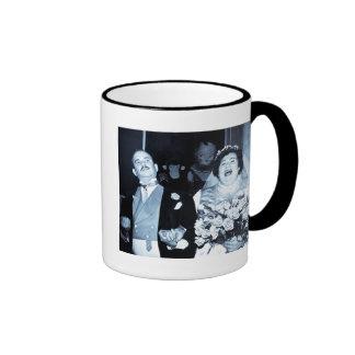 Imagen del boda del vintage - par feliz (Cyanotype Tazas De Café