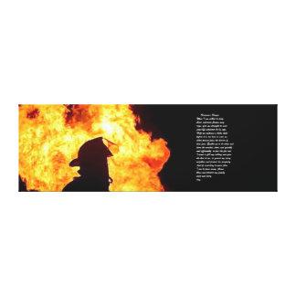 imagen del bombero lona estirada galerías