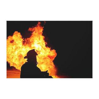 imagen del bombero lona envuelta para galerías