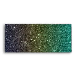 Imagen del brillo azul de la pendiente del verde a sobres