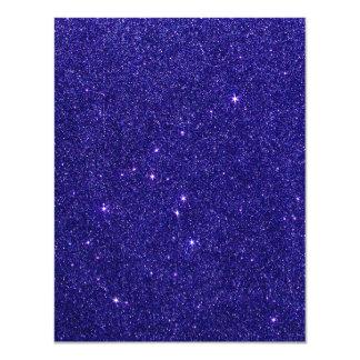 Imagen del brillo azul de moda invitación 10,8 x 13,9 cm