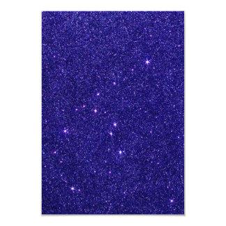 """Imagen del brillo azul de moda invitación 3.5"""" x 5"""""""