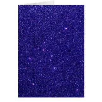 Imagen del brillo azul de moda tarjeta pequeña
