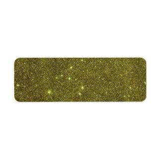 Imagen del brillo del amarillo verdoso etiqueta de remitente