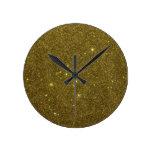 Imagen del brillo del oro reloj de pared