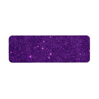 Imagen del brillo púrpura brillante etiquetas de remite