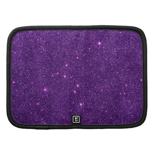 Imagen del brillo púrpura brillante planificadores