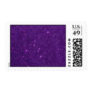 Imagen del brillo púrpura brillante sello postal