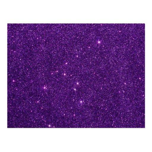 Imagen del brillo púrpura brillante tarjetas postales