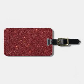 Imagen del brillo rojo de moda etiqueta de maleta