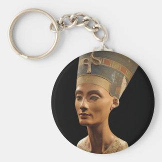 Imagen del busto de Nefertiti en el museo de Neues Llaveros