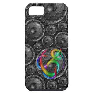imagen del cambio de los altavoces del carbono del iPhone 5 funda