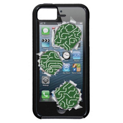 imagen del cambio del agujero de bala del caso del iPhone 5 carcasa