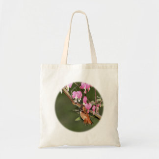 Imagen del colibrí y de las flores bolsa