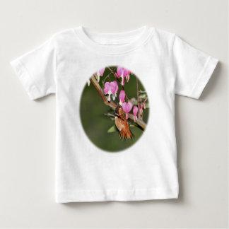 Imagen del colibrí y de las flores playera