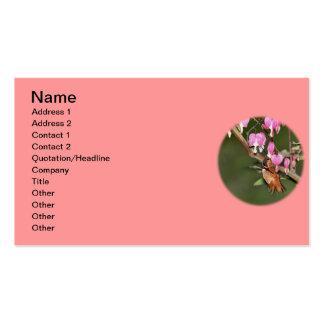 Imagen del colibrí y de las flores tarjeta personal