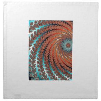 Imagen del color del fractal servilleta imprimida