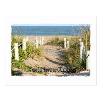 Imagen del color del paseo pie Pierce FL de la du Tarjetas Postales