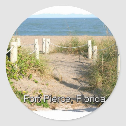 Imagen del color del paseo pie Pierce, FL de la Pegatina Redonda