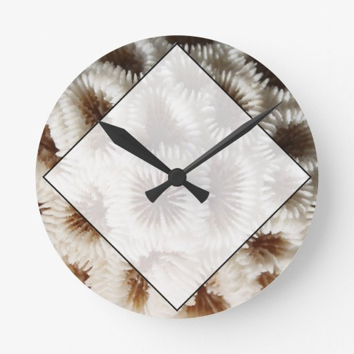 Imagen del coral reloj redondo mediano