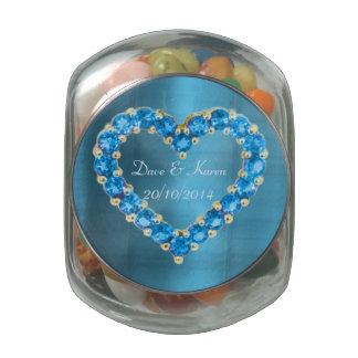 Imagen del corazón del zafiro jarras de cristal jelly bely