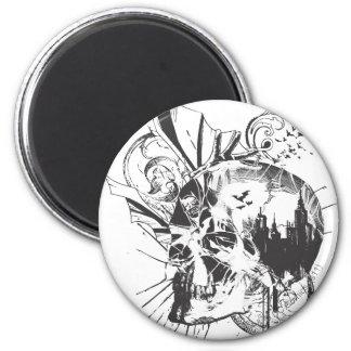 Imagen del cráneo de Batman Imán Redondo 5 Cm