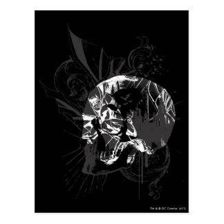 Imagen del cráneo de Batman Tarjeta Postal