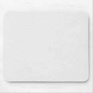 Imagen del cuero blanco mouse pads