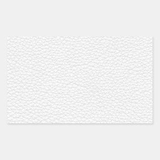 Imagen del cuero blanco pegatina rectangular