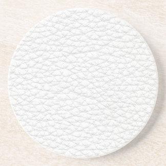 Imagen del cuero blanco posavasos cerveza
