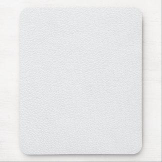 Imagen del cuero blanco alfombrillas de ratón