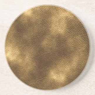 Imagen del cuero de Brown Posavasos Personalizados